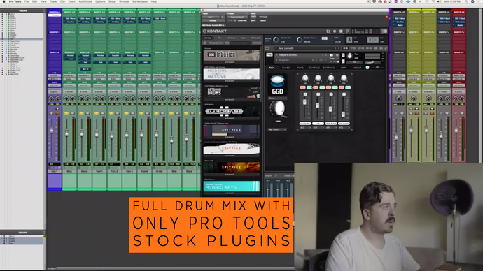 Derya 'Dez' Nagle: Full Drum Mix with stock Pro Tools plug-ins