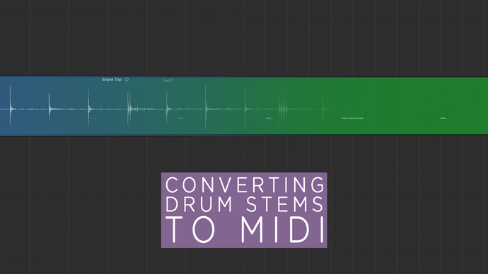 Converting a drum stem to MIDI
