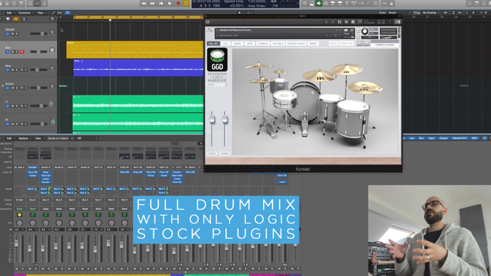 Adam Nolly Getgood: Full Drum Mix with stock Logic plug-ins