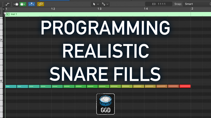 Programming realistic snare fills