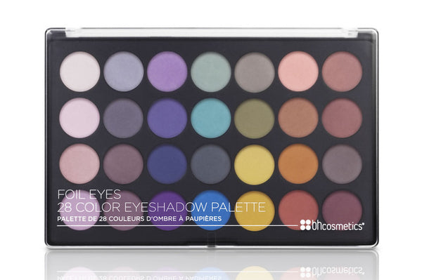 BHCosmetics Foil Eyes - 28 Color Eyeshadow Palette - MakeUpMart