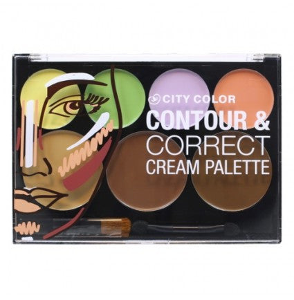 CITY COLOR Contour & Correct Cream Palette - All-In-One - MakeUpMart