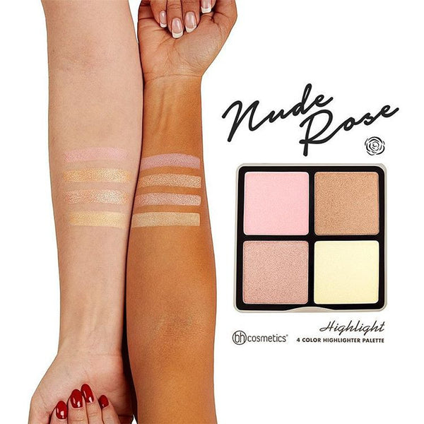 BH Cosmetics Nude Rose Highlight – 4 Colour Highlighter Palette