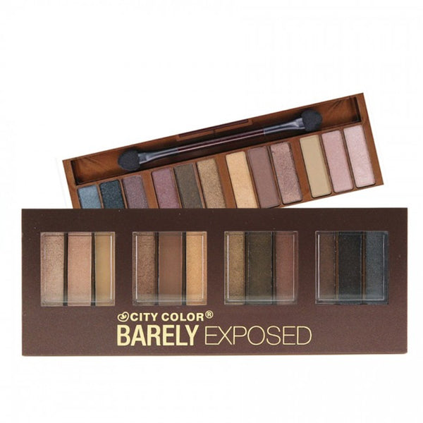 City Color Barely Exposed Eye Shadow Palette - Day/Night 12 Colors