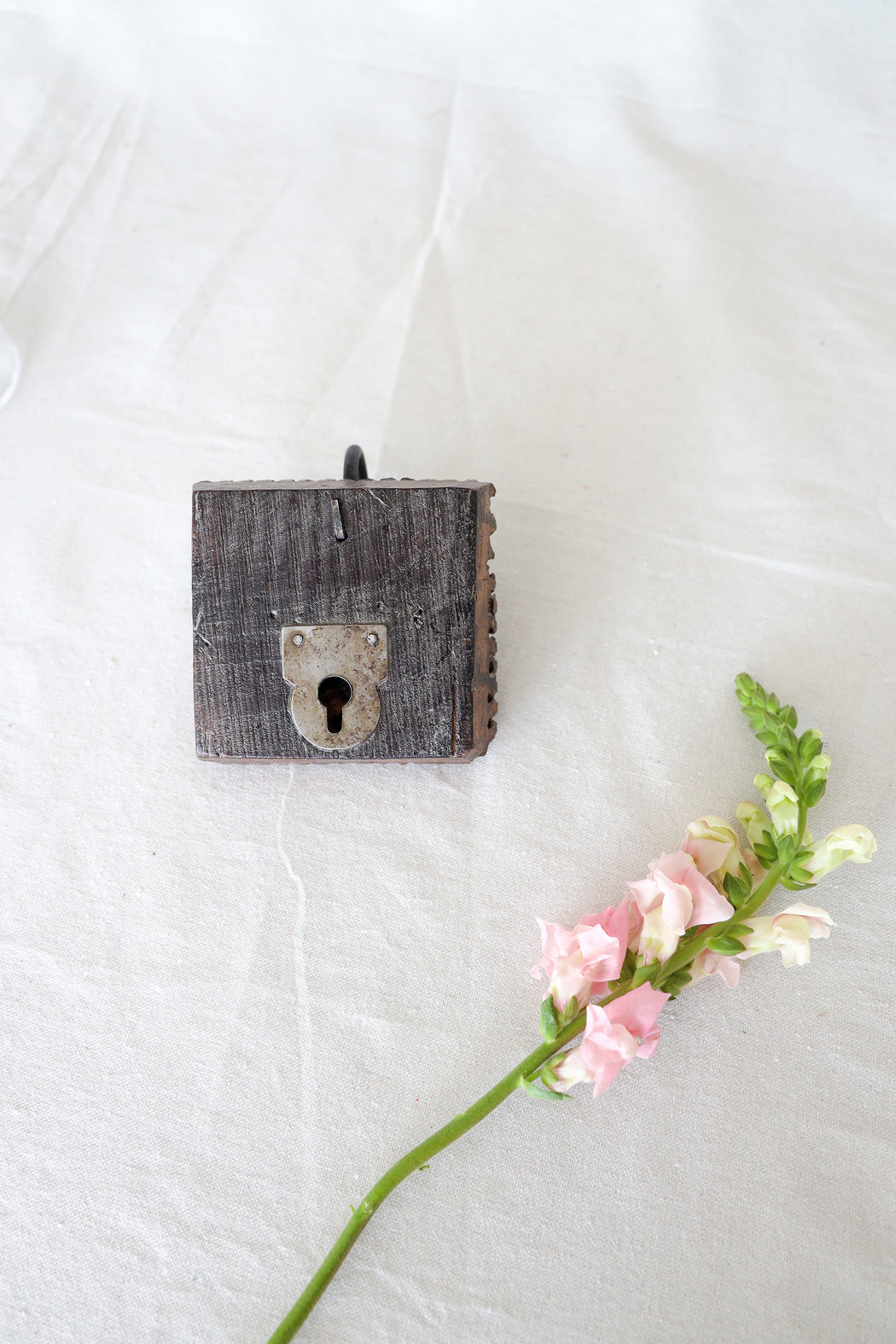 Cube Handcarved Upcycled Antique Door Hook
