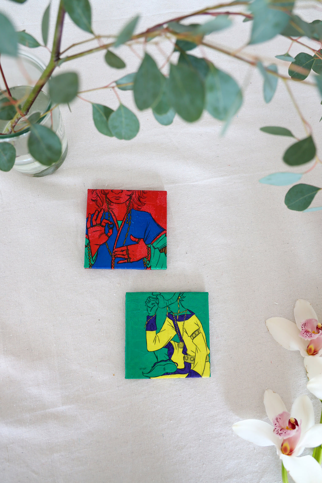 Inner Peace Illustrated Coaster Set