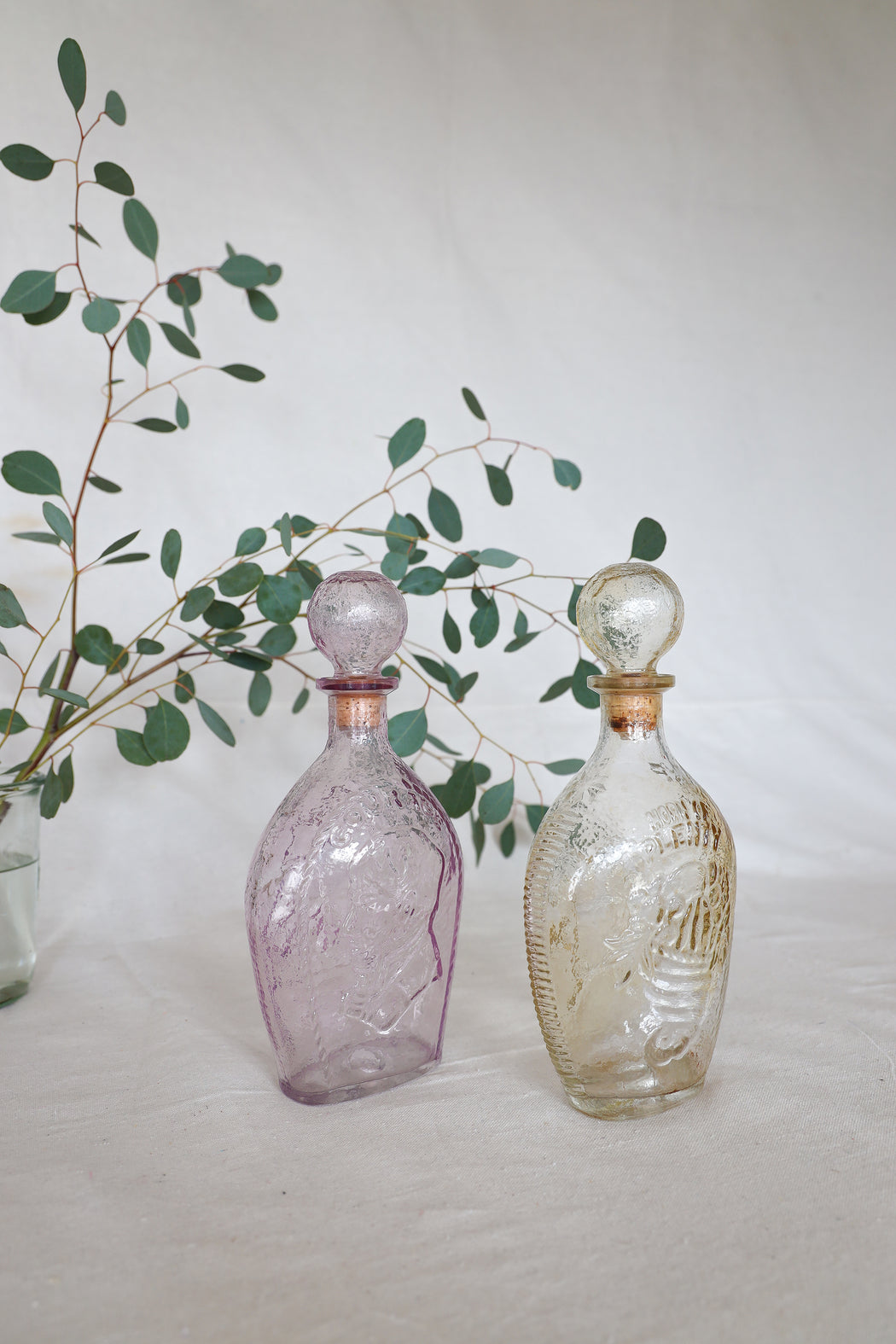 Pastel Courage Antique Glass Bottle Set