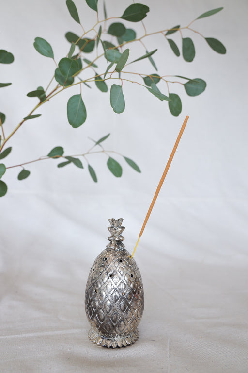 Brass Pineapple Figurine Incense Burner
