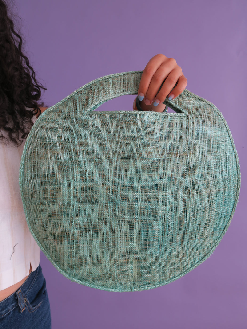 Vintage Circle Bag with Bird Motif