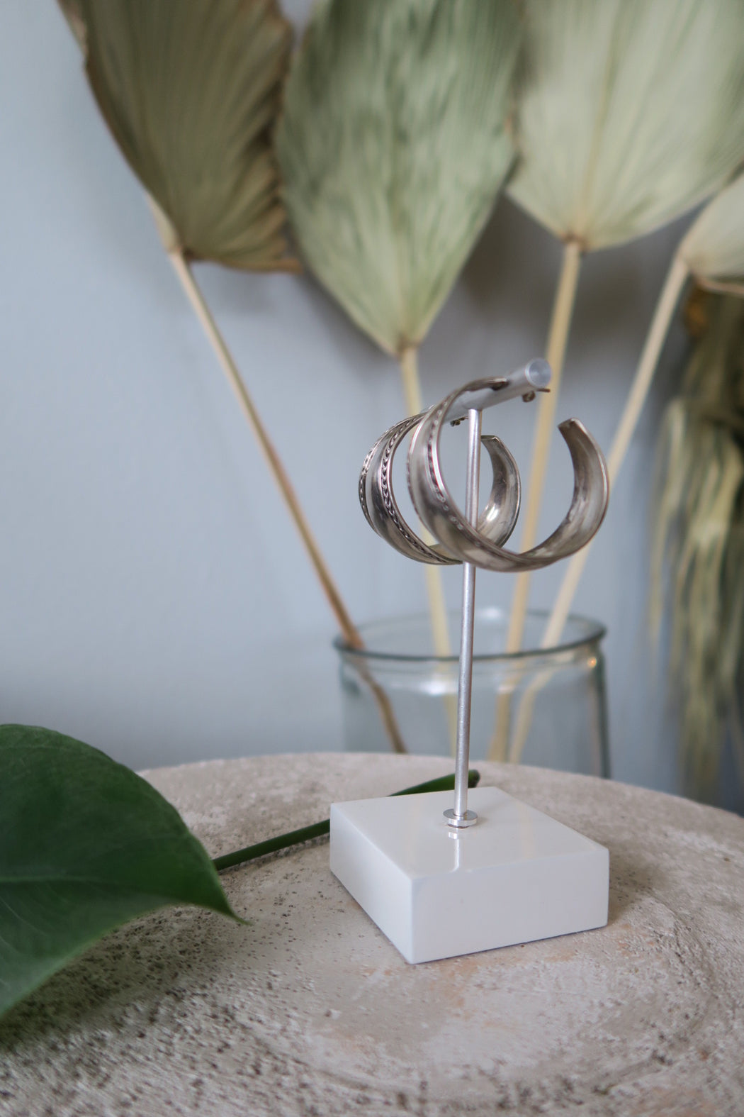 Thick Silversmith Hoop Earrings