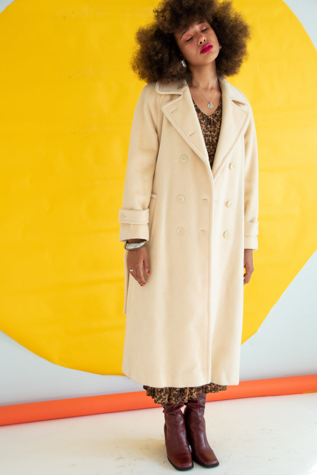 Creamy Wool Dream Vintage Coat