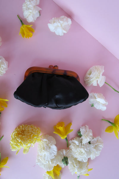Black is My Favorite Color Satin Clutch