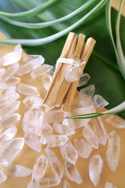 Palo Santo Bundles with Quartz