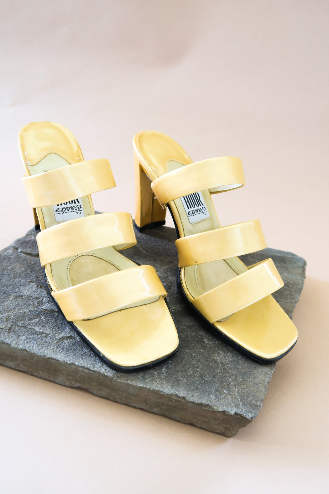 Golden Patent Leather Sandals