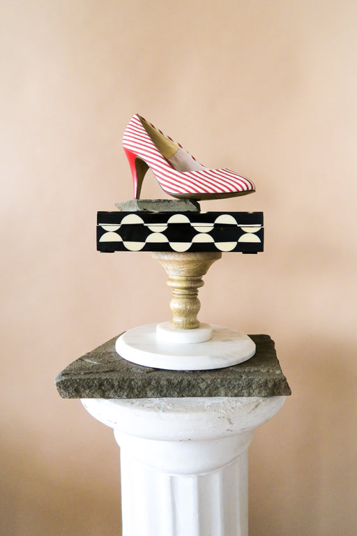 Red Candy Stripe Vintage Pumps