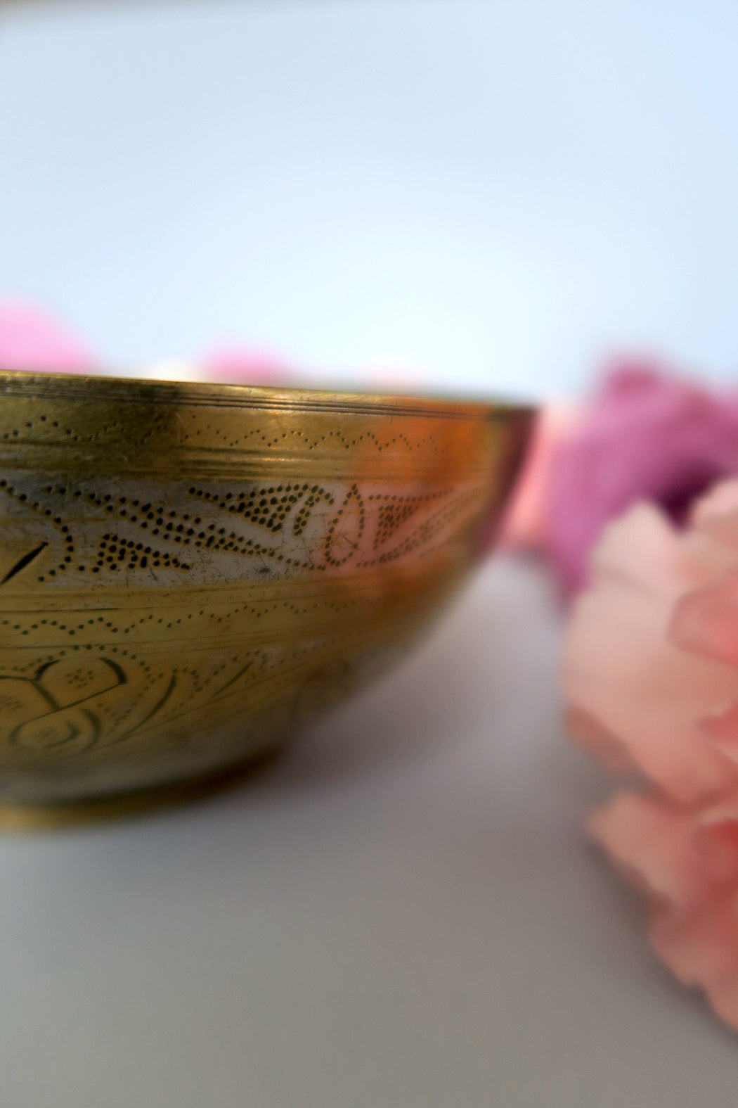 Gold South East Engraved Offering Bowl
