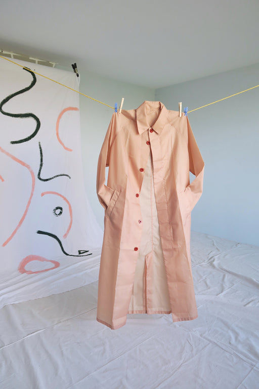 Longchamp Dusty Rose Rain Coat