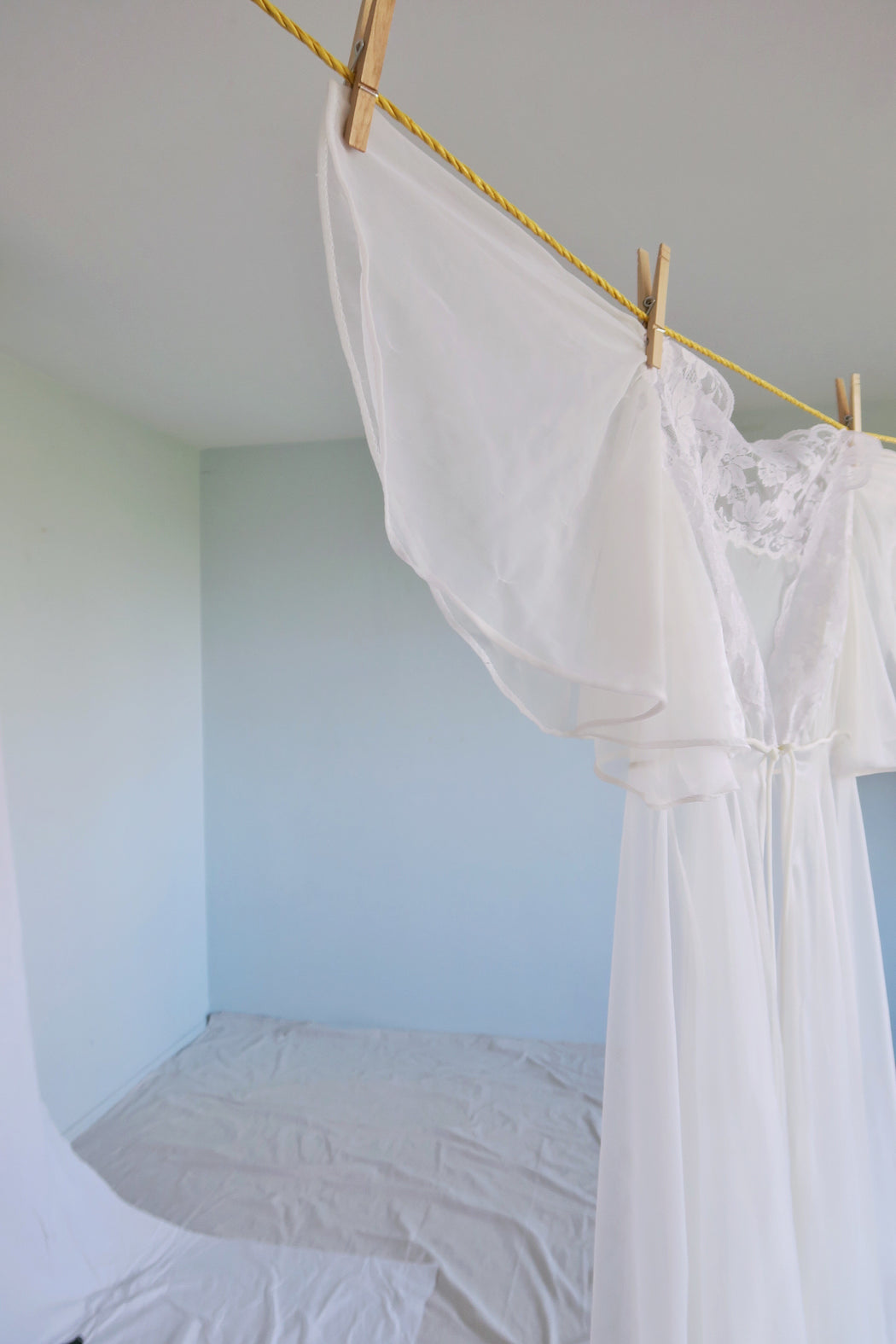 White Sheer Angel Duster
