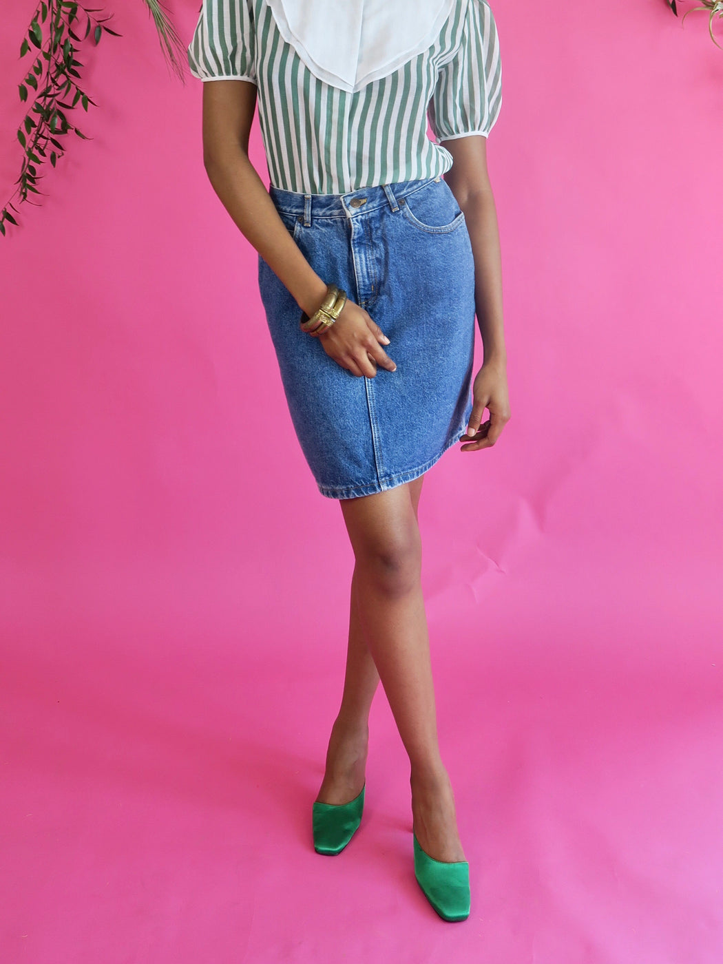 Vintage Espirit Denim Skirt