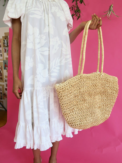 Extra Large Straw Carryall Bag & Make Up Bag