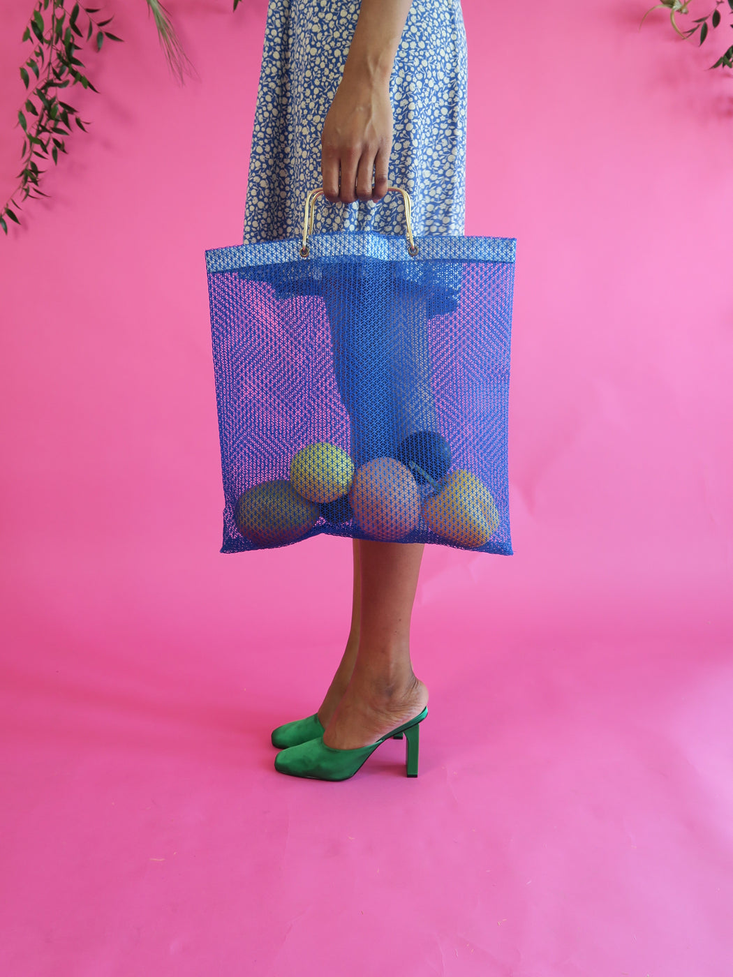 Market Mesh Bag in Cobalt