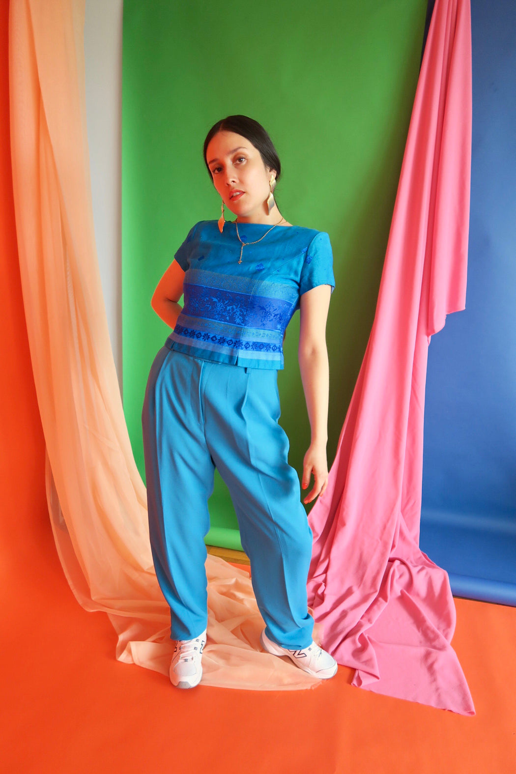 Turquoise Vintage Trousers