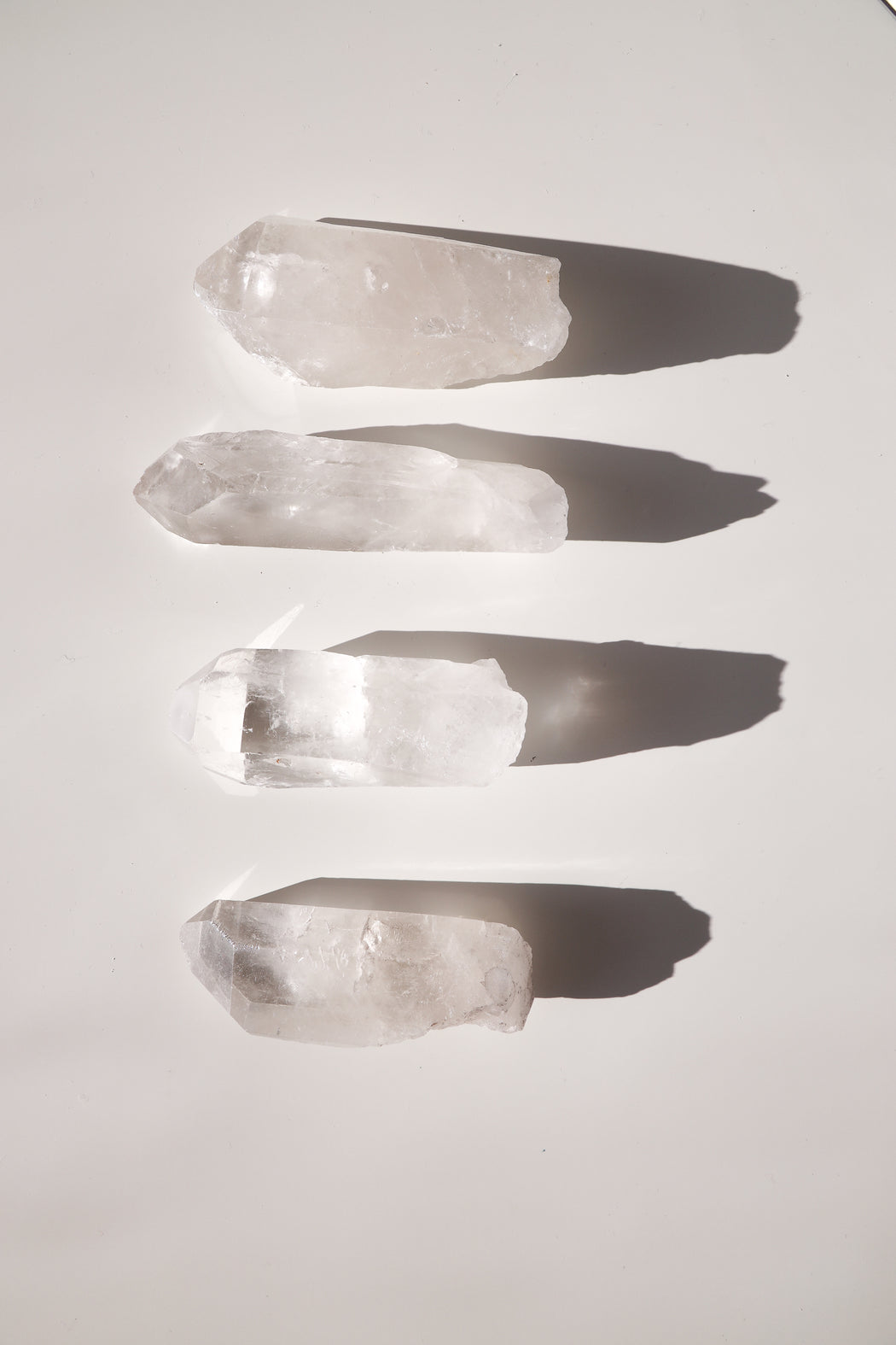 Raw Clear Crystal Quartz Wand