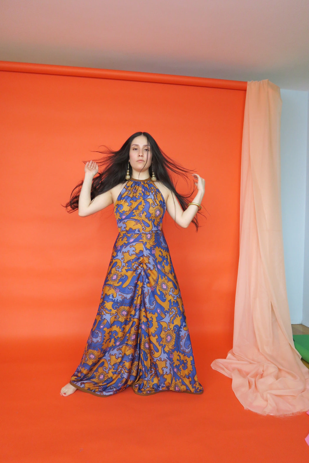 Cher Paisley 70s Maxi Dress