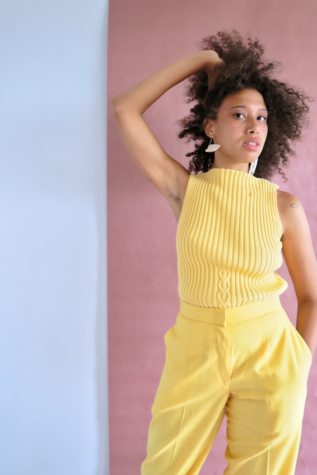Manipura Yellow Knit Tank