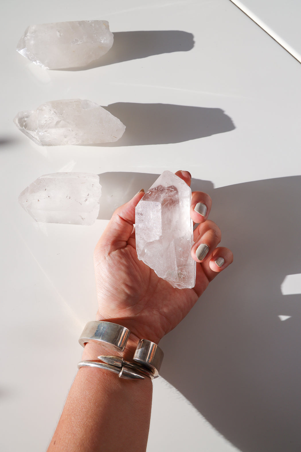 Single Terminated Raw Quartz Crystal Point