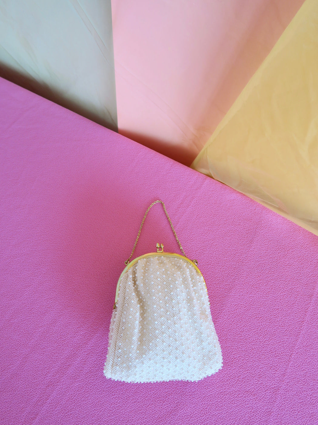 Precious Cream Mini Bag