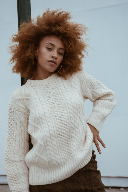Cream Fisherman Sweater