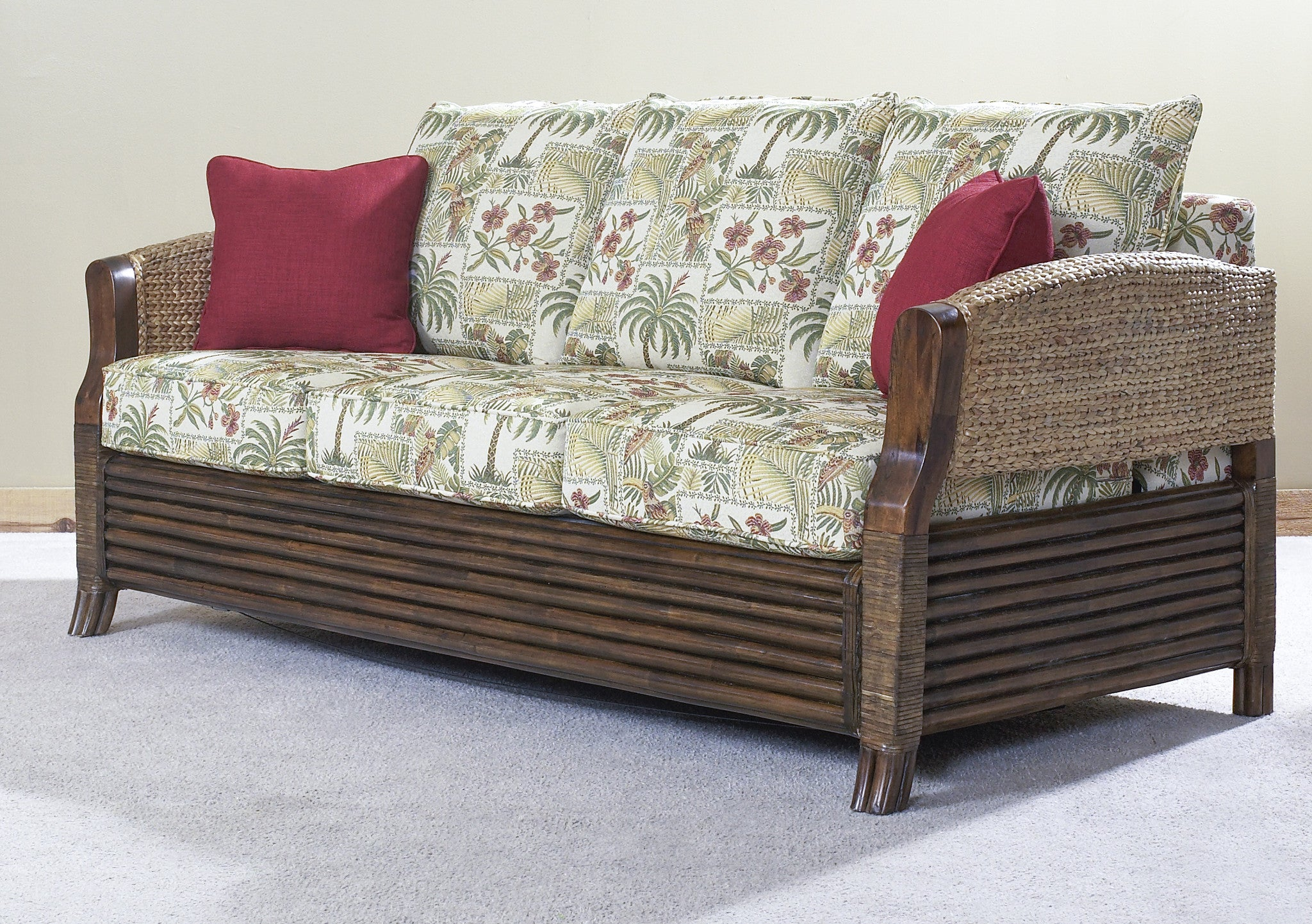 - Hazelton Sleeper Sofa - Designer Wicker By Tribor