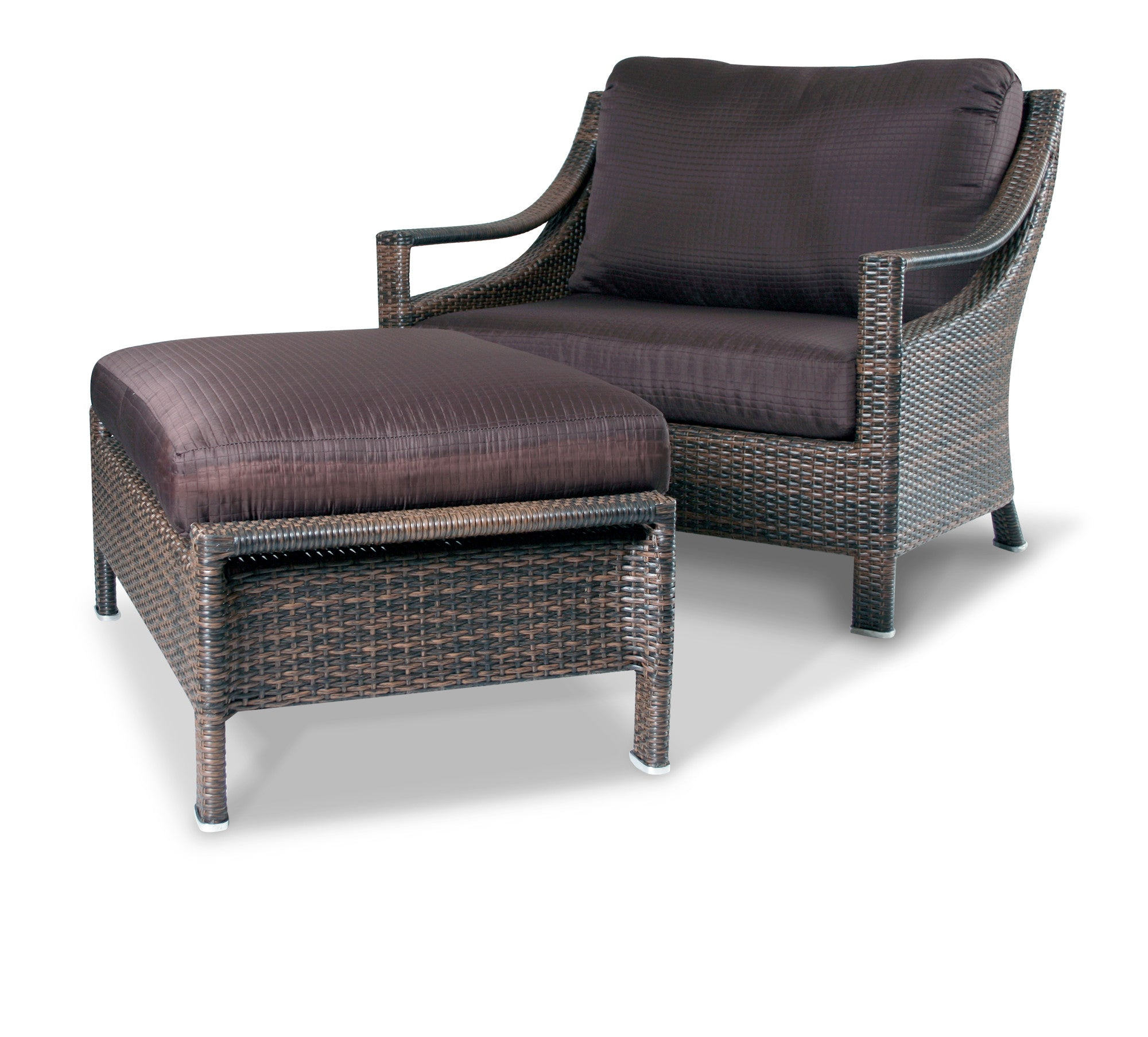 Mandalay Outdoor Chair and a Half Designer Wicker by Tribor
