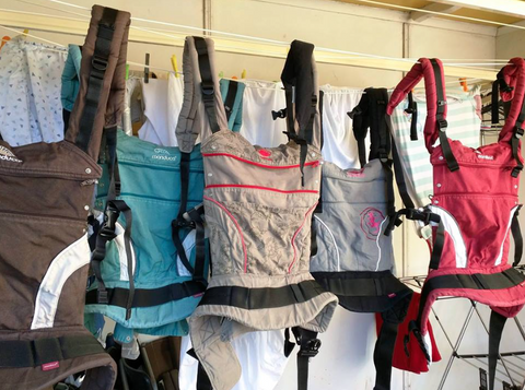 washing manduca baby carrier drying on line