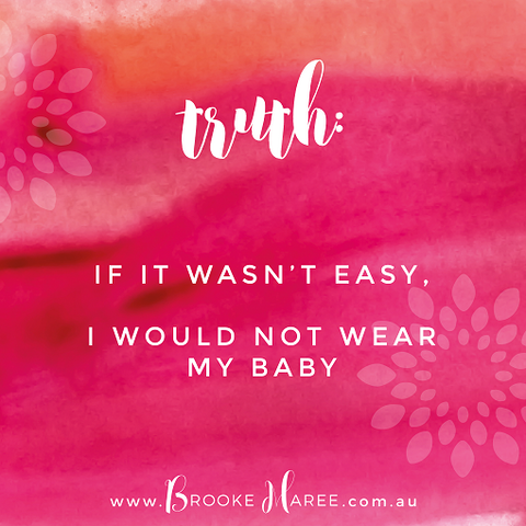 babywearing quote graphic