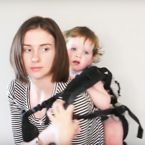 babywearing back carry
