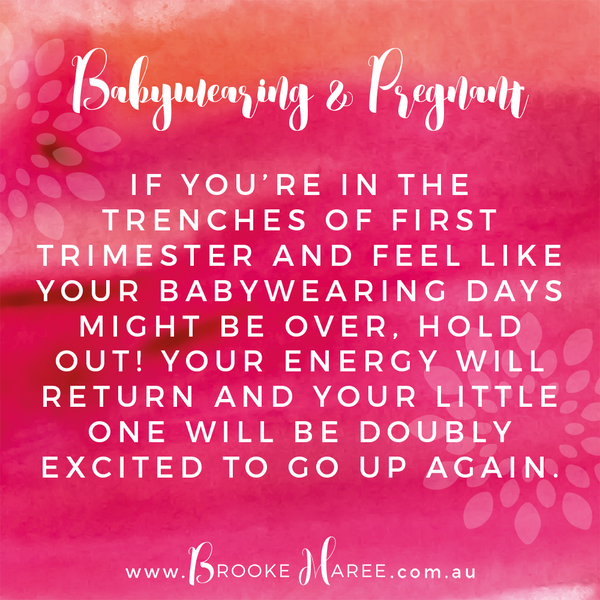babywearing and pregnant