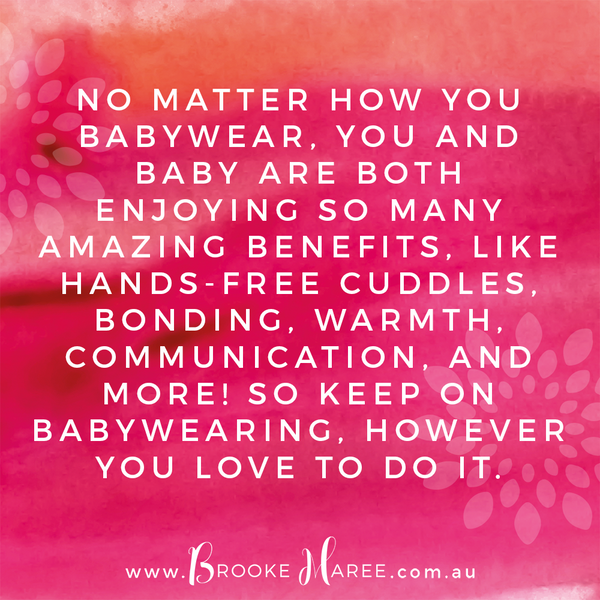 babywearing quote