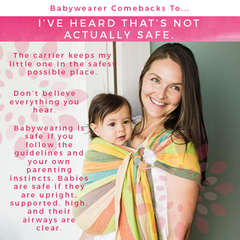 public criticism of babywearing