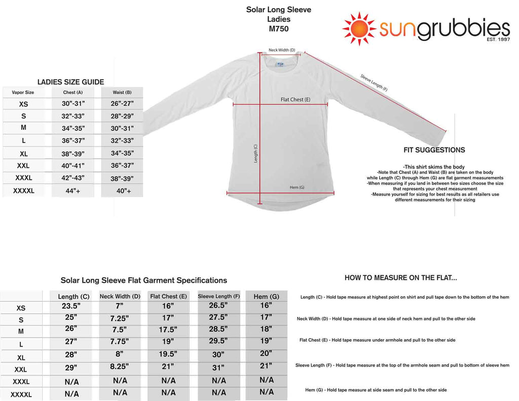 upf 50 sport shirt long sleeve women size chart