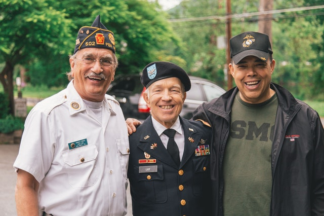 Veterans gathers celebrating memorial day