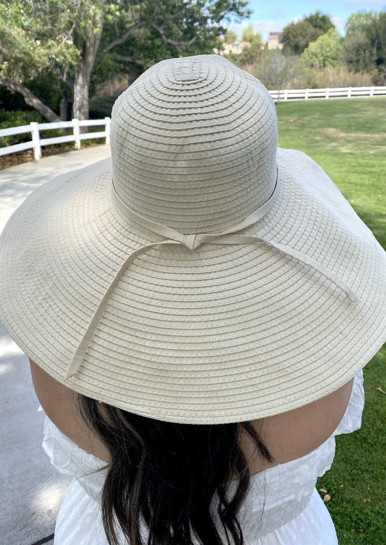 Ribbon Braid Beach Hat Extra Large Brim XL