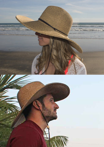 "El Ranchero Summer Hat For Men & Women Up to XXX-Large With Chinstrap & 5"" Brim"