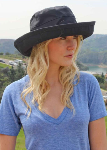 "Casual Traveler Bucket Hat For Women Packable Extra Large - 4.5"" Large Brim"