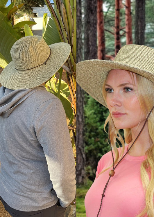 Straw Hat Women Chin Strap Fits Large Heads