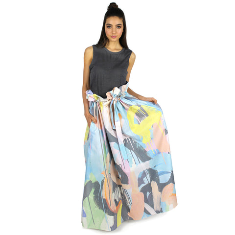 singing in the rain | paper bag waist skirt