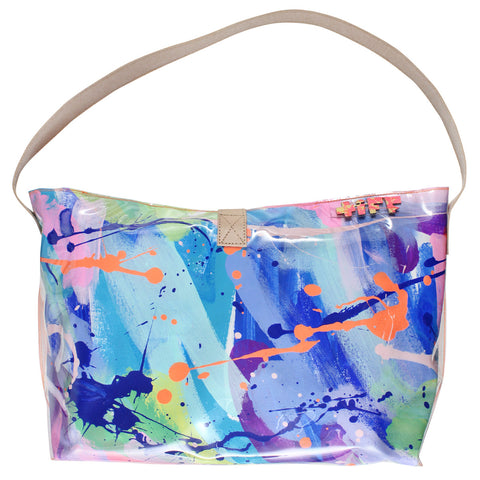 electric indigo | bucket tote