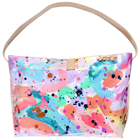over the rainbow | bucket tote