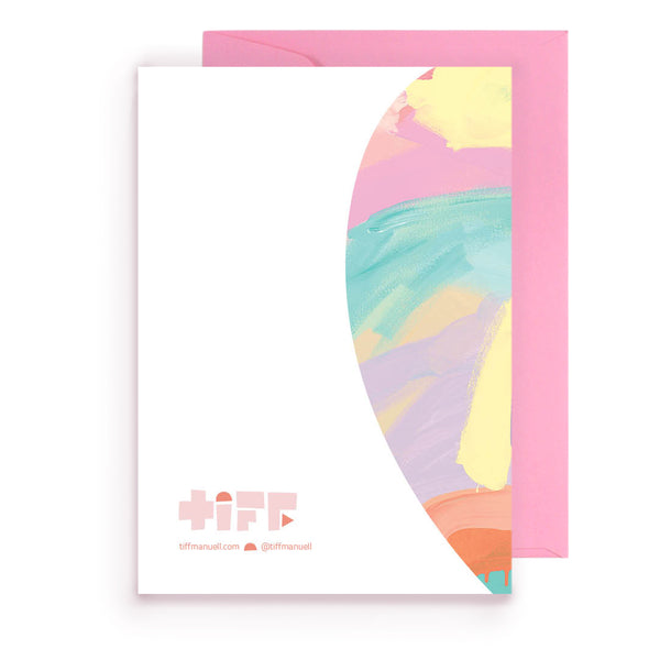 happy birthday pastel | greeting card